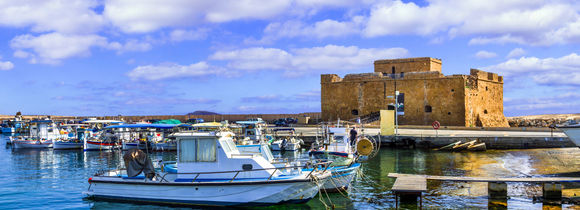 Castle in Paphos town, Cyprus