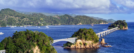 View of Samana bridge, in Samana Province, Dominican Republic