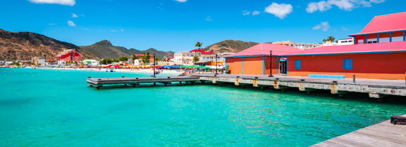 A view of a jetty in the SSI Islands, Netherlands Antilles